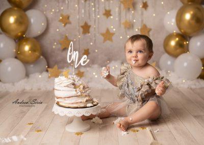 Cake Smash Oro & Bianco